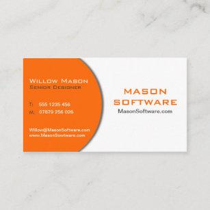 Technology business cards zazzle modern orange white technology business card colourmoves