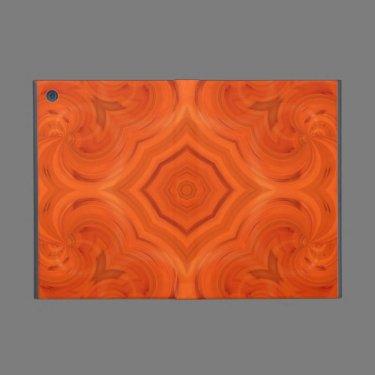 Modern orange wood pattern covers for iPad mini