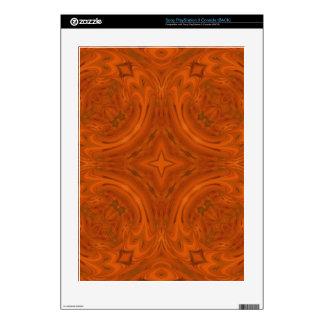 Modern Orange wood Pattern Decals For PS3