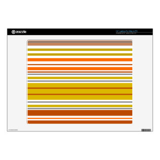 "Modern orange yellow white stripes 14"" laptop skin"