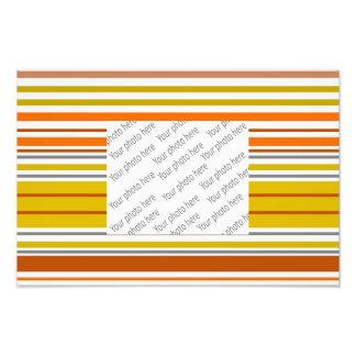 Modern orange yellow white stripes photo print