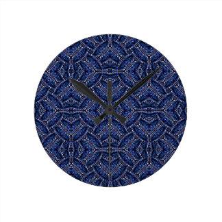 Modern Orante Pattern Round Clock