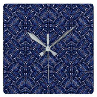 Modern Orante Pattern Square Wall Clock