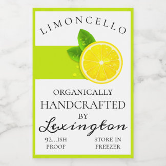 Modern Organic Limoncello Small Bottle Label |