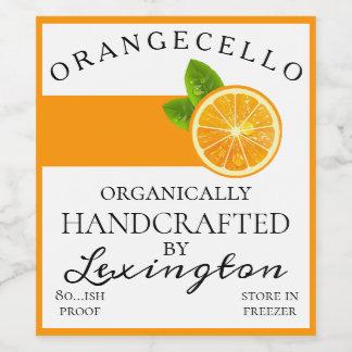 Modern Organic Orangecello Tall Bottle Label  