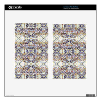 Modern Oriental Geometric Floral Print Decals For Kindle Fire