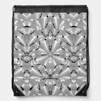 Modern Oriental Ornate Drawstring Backpack
