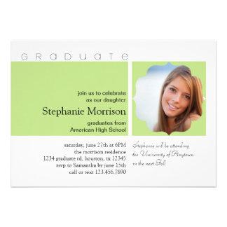 Modern Ornate Frame Photo Graduation Invitation