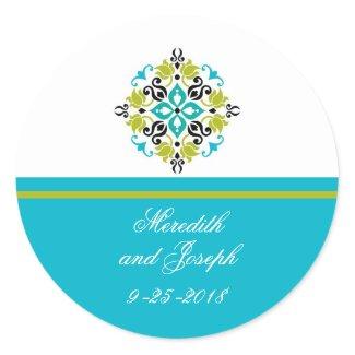 Modern Ornate Wedding Sticker sticker