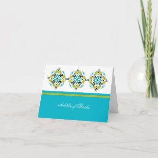 Modern Ornate Wedding Thank You Card card