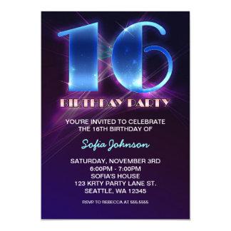 modern outstanding 16 birthday invitations