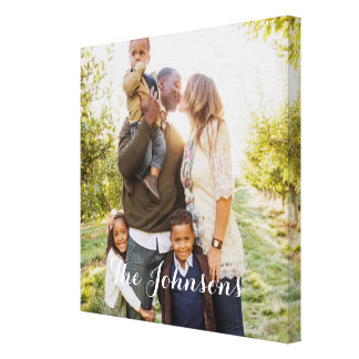 Modern Overlay Custom Photo Canvas