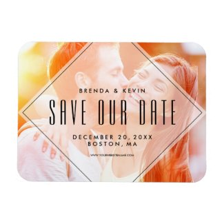 Modern Overlay | Photo Save the Date Magnet