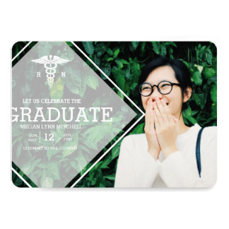Modern Overlay | RN Graduation Party Photo Card