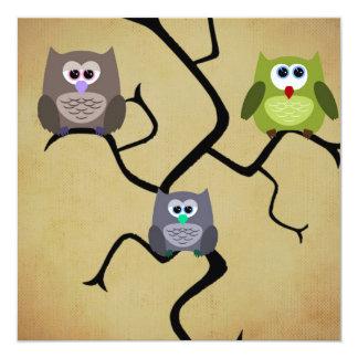 Modern Owl Card