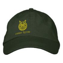 modern owl copy, conor byrne embroidered baseball cap