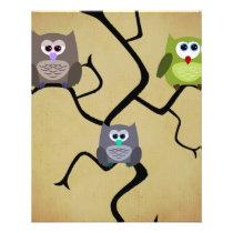 Modern Owl Flyer