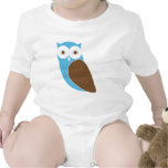 Modern Owl Infant Creeper - Blue