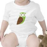 Modern Owl Infant Creeper - Green