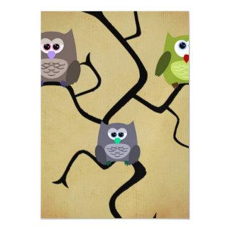 Modern Owl Magnetic Card