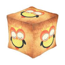 Modern Owl Pouf