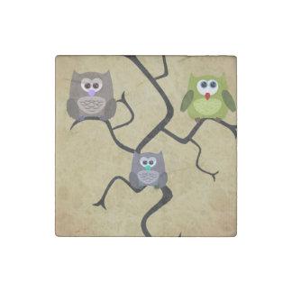 Modern Owl Stone Magnet