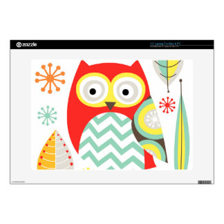 "Modern Owls 15"" Laptop Skin"