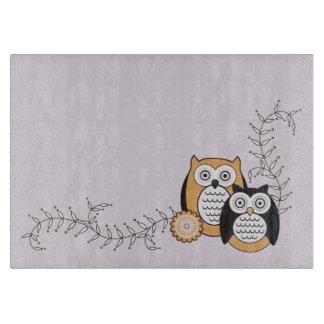 Modern Owls Cutting Board