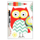 Modern Owls Dry-Erase Whiteboard