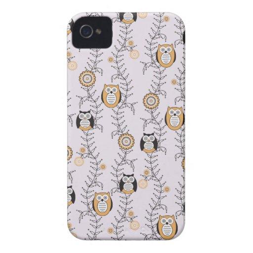 Modern Owls iPhone 4 Case-Mate ID iPhone 4 Case-Mate Case
