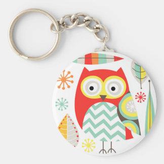 Modern Owls Keychain