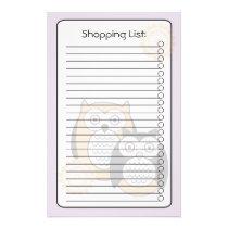 Modern Owls List Stationery