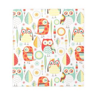 Modern Owls Memo Pads