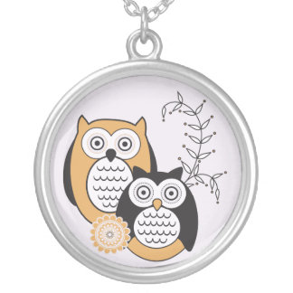 Modern Owls Necklace
