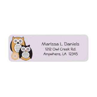 Modern Owls Return Address Labels