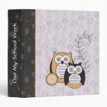 Modern Owls School Work Binder