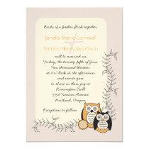 Modern Owls Whimsical Wedding Invitation