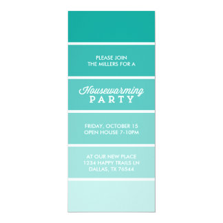 Modern Paint Card Housewarming Party