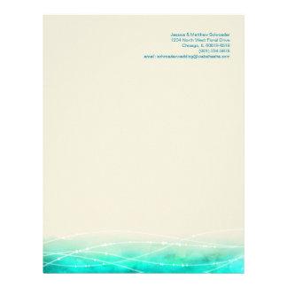 Modern painted abstract sparkle seas letterhead