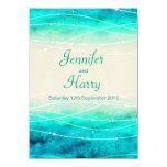 "Modern painted sparkle seas wedding invite 4.5"" x 6.25"" invitation card"