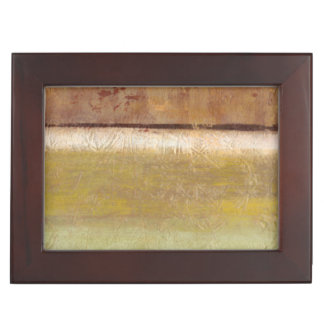 Modern Painting in Earth Tones by Norman Wyatt Memory Boxes