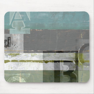 Modern Painting with Assorted Letters Mousepads