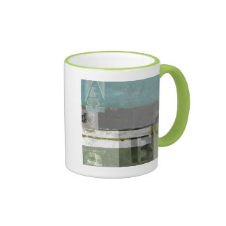 Modern Painting with Assorted Letters Mugs