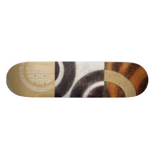 Modern Painting with Circular Patterns Skateboard