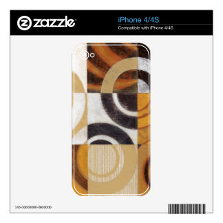 Modern Painting with Circular Patterns Skin For iPhone 4