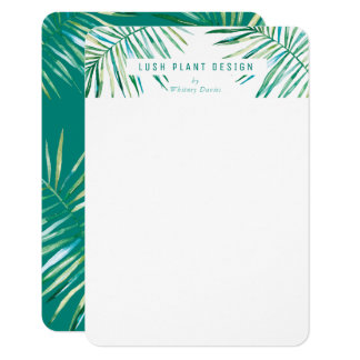 MODERN PALM LEAF LOGO lush botanical life green Card