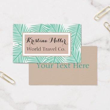Professional Business Modern Palm | Neutrals | Travel | Business Card