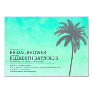 Modern Palm Trees Bridal Shower Invitations