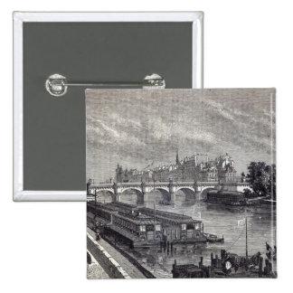 Modern Paris The Pont Neuf 1845 Buttons