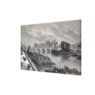 Modern Paris: The Pont Neuf, 1845 Canvas Print